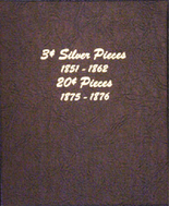 Dansco Album #6109 - 3 Cent Silver Pieces and 20 Cent Pieces