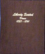 Dansco Album #6122 - Liberty Seated Dimes  1837-1891