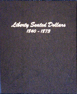 Dansco Album #6171 - Liberty Seated Dollars 1840-1873