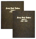Dansco Album #6151 - Early Half Dollars 1794-1839 - Set of 2 Volumes