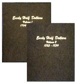 Dansco Album #6151 - Early Half Dollars 1794-1839 - Set of 2 Volumes