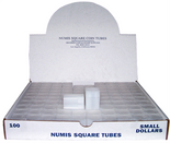 Numis Square Tubes for SBA/Sacagawea Dollars- Pack of 100