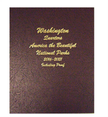 Dansco Album #8147-America The Beautiful National Park Quarters 2016-2021 with Proof Vol.2