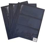 Replacement Page For HE Harris Deluxe Currency Album For Large Notes-3 Pockets