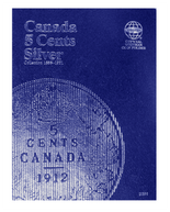 Whitman Folder - Canadian 5 Cents Silver 1858-1921