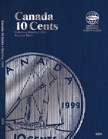 Whitman Folder - Canadian 10 Cents Starting 1990 Vol.3