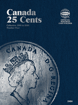 Whitman Folder - Canadian 25 Cents 1990-2000 Vol. IV