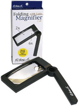 H.E. Harris Illuminated Folding Magnifier PL180