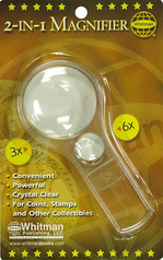 Whitman 2-In-1 3x- 6x Magnifier in Retail Pack