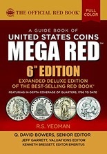 FUTURE RELEASE   2021 MEGA Red Book, A Guide Book of United States Coins Deluxe 6th Edition