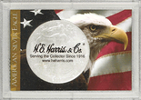 "Frosted 2"" x 3"" Case for American Silver Eagle Dollars: Bald Eagle (1 Hole)"