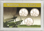 "Frosted 2"" x 3"" Case for Wartime Steel Cents: Flying Tigers (3 Holes)"