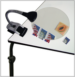 Lighthouse 2.5X LED Table Magnifier with 5X Inset