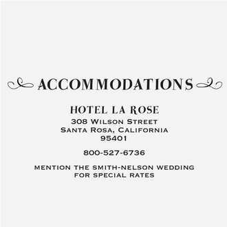 """""""Floral Banner"""" Accommodations Card Stamp"""