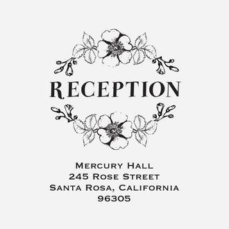 """""""Floral Banner"""" Reception Card Stamp"""