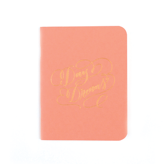 """Daydreams"" Gold Foil Notebook, Coral"