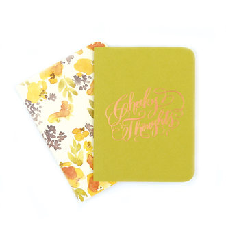 A2 Notebook Set, Chartreuse and Chloe Floral