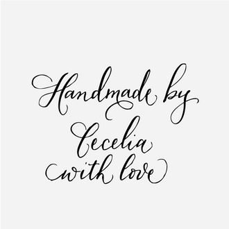 """""""Handmade with Love"""" Custom Gift Tag Rubber Stamp"""