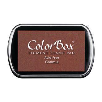 Color Box Stamp Pad, Pigment Ink, Chestnut