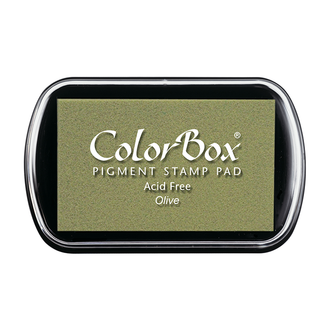 Color Box Stamp Pad, Pigment Ink, Olive