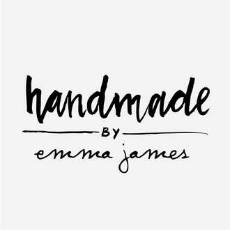 """Handmade by"" Brushed Lettering Rubber Stamp"