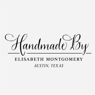 """Handmade by"" Vintage Calligraphy Rubber Stamp"