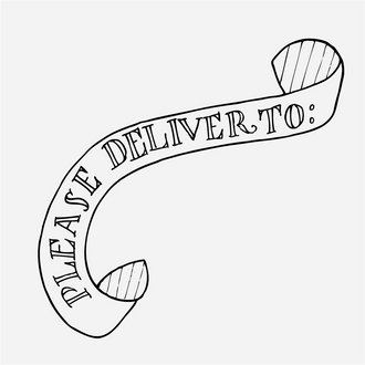 """Deliver To"" Banner Stamp"