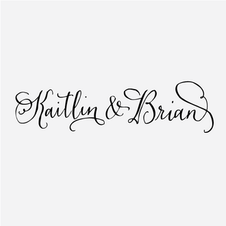 """Ampersand"" Handwritten Calligraphy Names Stamp"