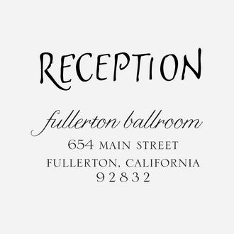 """Art Deco"" Reception Stamp"