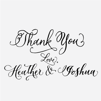 Calligraphy Custom Thank You Stamp