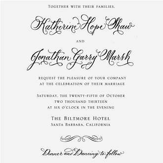 """Traditional Calligraphy"" Invitation Stamp"