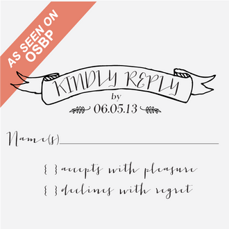 """""""Mod"""" Reply Card Stamp"""