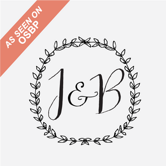 """Mod Wreath"" Initial Monogram Stamp"