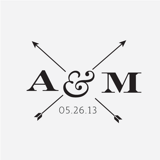 Modern Arrow Monogram Stamp