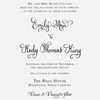 """Vintage Calligraphy"" Invitation Stamp"