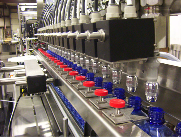 Pressure gravity filler machines packaging liquids