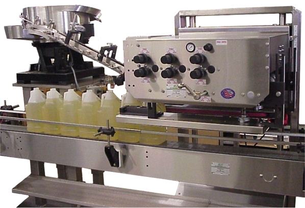 Capping Machine Packages Liquids