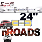 """Nroads 24"""" Mid-Size Light bar Single Color Fixed mount Class 1"""
