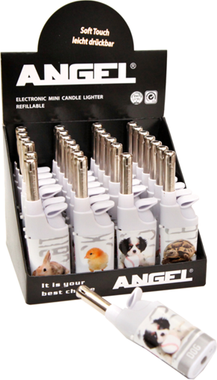 ANGEL PETS WHITE ELECTRONIC MINI CANDLE LIGHTERS