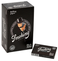 SMOKING BLACK 300 Length: 78mm Width: 44mm Weight: 13 gsm Per Pack: 300 Leaves