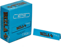 RIZLA SLIM BLUE (109mm. X 44mm.) 32 Leaves per Booklet 50 Booklets per Display Box