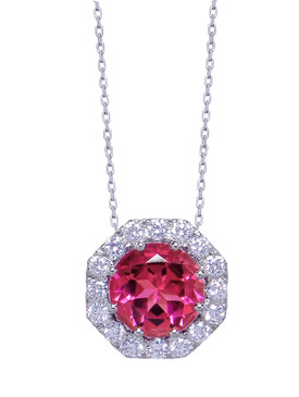Gatward 1760 Collection - Pink Tourmaline & Diamond Pendant