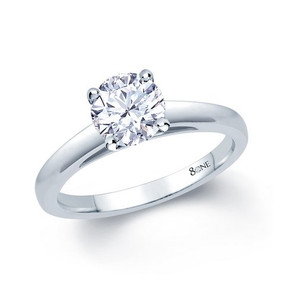 80ne Facet Classic Solitaire Diamond Ring (Prices from £1950.00)