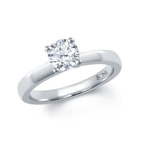 Crossover Platinum 80ne Facet Solitaire Ring (Prices From £1500.00)