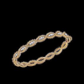 Roberto Coin 'Barocco' 18ct gold and diamond bangle (£3585.00)
