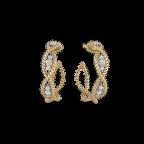 Roberto Coin 'Barocco' 18ct Gold & Diamond Earrings (£1845.00)