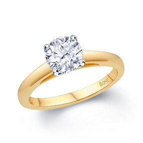 80ne Facet Diamond Solitaire, 18ct Yellow Gold
