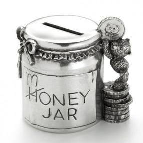 Pewter Teddy Money Jar