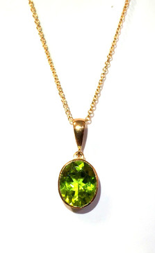 9ct Rose Gold & Peridot Pendant