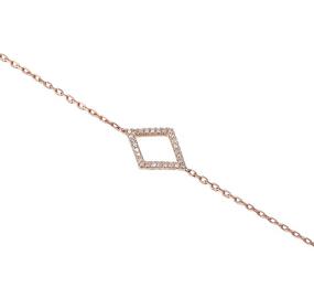 18ct Rose Gold & Diamond Geometric Bracelet